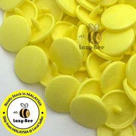 KM003: B7 YELLOW 50 Sets (200 pcs) T3 T5 KAM Snap Button Plastic Fastener DIY Sewing Craft Baby cloth GLOSSY / MATTE