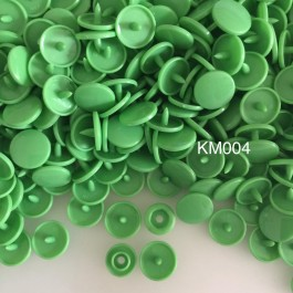 KM004: SPRING GREEN B14: T5 (12.4mm Diameter) KAM Glossy Snap Button Plastic Fastener DIY, 50 Sets [ K5 ]