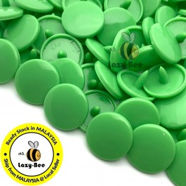 KM004: B14 SPRING GREEN 50 Sets (200 pcs) T5 12.4mm KAM Snap Button Plastic Fastener DIY Sewing Craft Baby cloth GLOSSY / MATTE