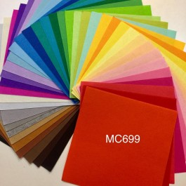 MC699: Mix Poly Felt 30x30cm, 40 pieces
