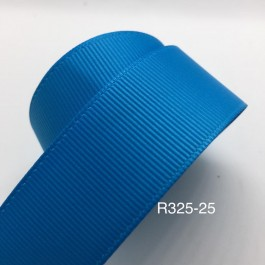 R325-25: VIVID BLUE: Grosgrain Ribbon 25mm, 5Meter