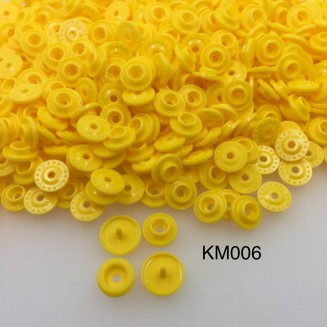 KM006: SUNSET YELLOW B10: T5 KAM Glossy Snap Button Plastic Fastener DIY, 50 Sets [ K1 ]