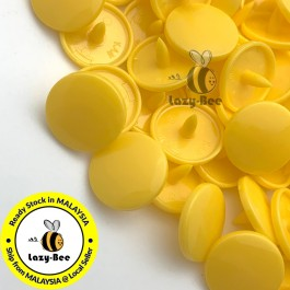 KM006: B10 SUNSET YELLOW 50 Sets (200 pcs) T3 T5 KAM Snap Button Plastic Fastener DIY Sewing Craft Baby cloth GLOSSY / MATTE