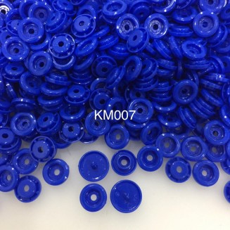 KM007: ROYAL BLUE B16: T5 KAM Glossy Snap Button Plastic Fastener DIY, 50 Sets