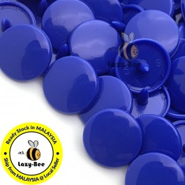 KM007: B16 ROYAL BLUE 50 Sets (200 pcs) T5 12.4mm KAM Snap Button Plastic Fastener DIY Sewing Craft Baby cloth GLOSSY / MATTE