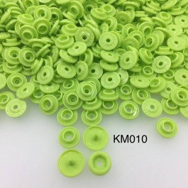 KM010: APPLE GREEN B44: T5 KAM Glossy Snap Button Plastic Fastener DIY, 50 Sets [ K6 ]