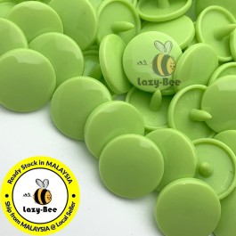 KM010: B44 APPLE GREEN 50 Sets (200 pcs) T5 KAM Snap Button Plastic Fastener DIY Sewing Craft Baby cloth GLOSSY MATTE