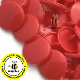KM094: B38 DEEP RED 50 Sets (200 pcs) T3 T5 KAM Snap Button Plastic Fastener DIY Sewing Craft Baby cloth GLOSSY MATTE