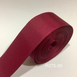 R275-25: WINE: Grosgrain Ribbon 25mm, 5Meter
