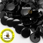 KM090: B5 BLACK 50 Sets (200 pcs) T3 T5 T8 KAM Snap Button Plastic Fastener DIY Sewing Craft Baby cloth GLOSSY / MATTE