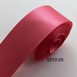 S210-25: Coral Rose: Double Faced Satin Ribbon 25mm, 5Meter