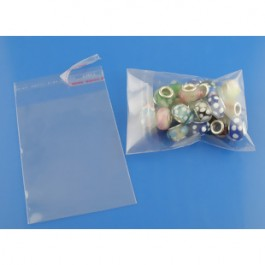 B03362: 200 pieces 10x5cm (Usable Space: 8x5cm) Plastic Self Seal Bags Rectangle Transparent Packaging [ A18 ]
