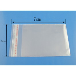B03363: Plastic Self-Seal Bags Rectangle Transparent 7x5cm, 200 pieces [ A12 ]