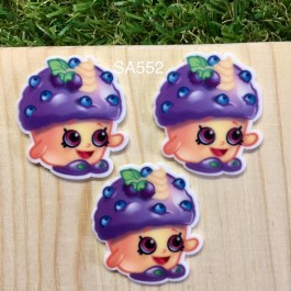 SA552: Shopkins Blueberry, 5 pieces [ Z43 ]