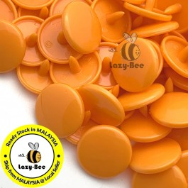 KM095: B40 PUMPKIN 50 Sets (200 pcs) T5 T3 KAM Snap Button Plastic Fastener DIY Sewing Craft Baby cloth GLOSSY MATTE