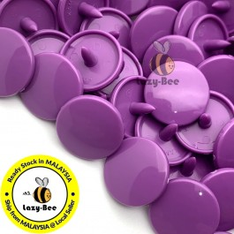KM096: B41 VIOLET 50 Sets (200 pcs) T5 KAM Snap Button Plastic Fastener DIY Sewing Craft Baby cloth GLOSSY MATTE