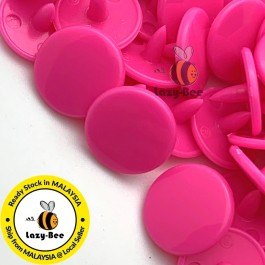 KM097: B47 NEON PINK 50 Sets (200 pcs) T3 T5 KAM Snap Button Plastic Fastener DIY Sewing Craft Baby cloth GLOSSY MATTE