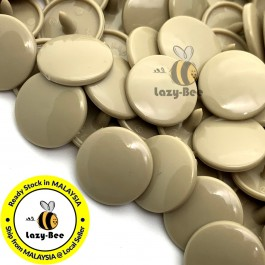 KM098: B42 DARK TAN 50 Sets (200 pcs) T5 KAM Snap Button Plastic Fastener DIY Sewing Craft Baby cloth GLOSSY MATTE