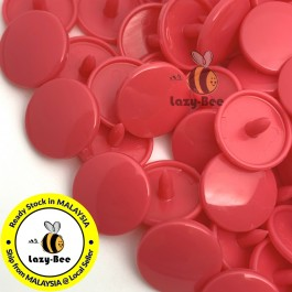 KM099: B33 HOT PINK 50 Sets (200 pcs) T5 KAM Snap Button Plastic Fastener DIY Sewing Craft Baby cloth GLOSSY MATTE
