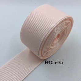 R105-25: SLIDESHOW ROSE: Grosgrain Ribbon 25mm, 5Meter