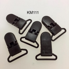 KM111: Black Coffee: Baby Pacifier Clip 30mm, 5 pieces/pack