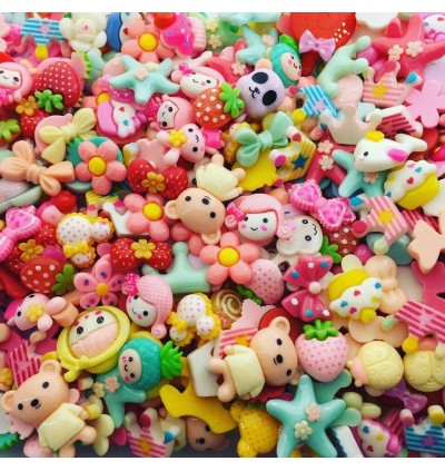MC730: Random Mix Resin Flatback DIY Cute Resin Kawaii Resin for Craft 50 pieces [ C11 ]