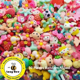 MC730: 50 pieces Random Mix Resin Flatback DIY Cute Resin Kawaii Resin for Craft  [ C11 ]