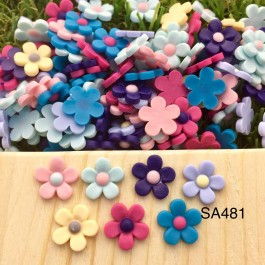 SA481: Resin Flower 11mm, 50 pieces [ A4 ]