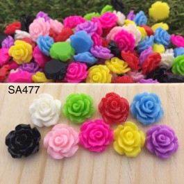 SA477: Rose Resin Flower 10mm, 50 pieces [ A11 ]