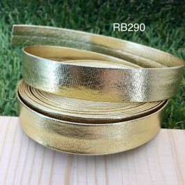 RB290: Gold PU leather 15mm, 5Meter