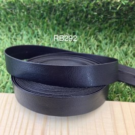 RB292: Black PU leather 15mm, 5Meter