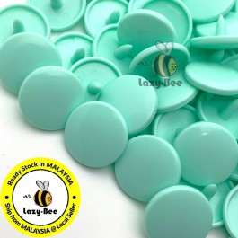 KM126: B19 PASTEL GREEN 50 Sets (200 pcs) T5 12.4mm KAM Snap Button Plastic Fastener DIY Sewing Craft Baby cloth GLOSSY / MATTE
