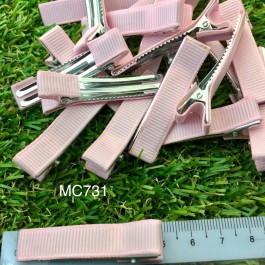 MC731: Pink Prong Barrettes Hair Clips 50mm, 10 pieces [ C12 ]