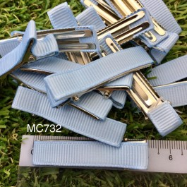 MC732: Baby Blue Prong Barrettes Hair Clips 50mm, 10 pieces [ C12 ]