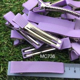 MC736: Lavender Prong Barrettes Hair Clips 50mm, 10 piece [ C12 ]