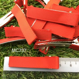 MC737: Red Prong Barrettes Hair Clips 50mm, 10 pieces [ C12 ]