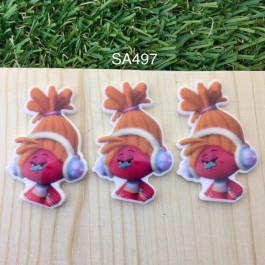 SA497: Trolls DJ Suki 40x27mm, 5 pieces [ Z27 ]