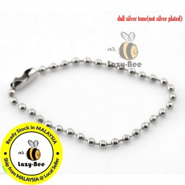 B21488: 100 Pieces 12cm Iron Based Alloy 2.4mm Ball Chain Keychain for tag DIY key Ring [ C2 ]