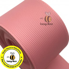 R160 DUSTY ROSE: 5 meter Grosgrain Ribbon Wedding DIY Craft Bow knot Perkahwinan Borong Balut Reben