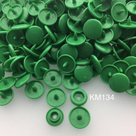 KM134: KELLY GREEN B51: T5 KAM Glossy Snap Button Plastic Fastener DIY, 50 Sets [ K6 ]