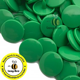 KM134: B51 KELLY GREEN 50 Sets (200 pcs) T3 T5 KAM Snap Button Plastic Fastener DIY Sewing Craft Baby cloth GLOSSY MATTE