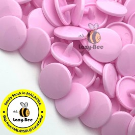 KM125: B18 PASTEL PINK 50 Sets (200 pcs) T5 12.4mm KAM Snap Button Plastic Fastener DIY Sewing Craft Baby cloth GLOSSY / MATTE