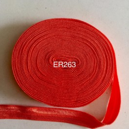ER263: TANGERINE: 10mm Elastic Ribbon 5meter/pack