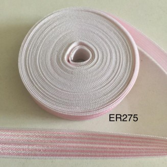 ER275: Pink Strike: 15mm Elastic Ribbon 5meter
