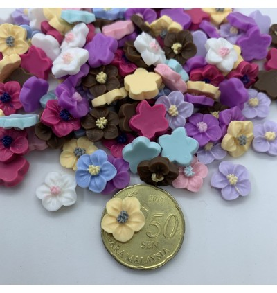 SA521: Flower Resin 12mm, 50 pieces [ A3 ]