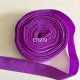 ER270: Grape Matte: 15mm Elastic Ribbon 5meter