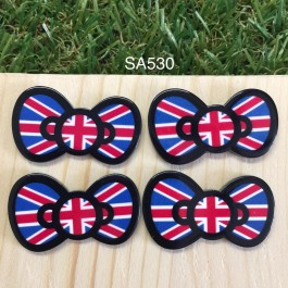 SA530: England KITTY BOW 37x21mm, 5 pieces [ Z37 ]