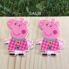 SA538: Peppa Pig 38x30mm, 5 pieces [ Z32 ]