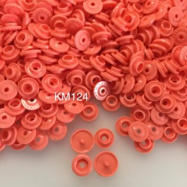 KM124: MELON ORANGE B17: T5 KAM Glossy Snap Button Plastic Fastener DIY, 50 Sets [ K12 ]