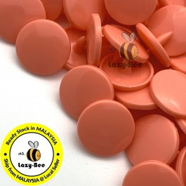 KM124: B17 MELON ORANGE 50 Sets (200 pcs) T5 12.4mm KAM Snap Button Plastic Fastener DIY Sewing Craft Baby cloth GLOSSY / MATTE